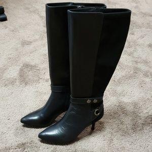 Tahari Tabor Wide Calf Boots with heel.